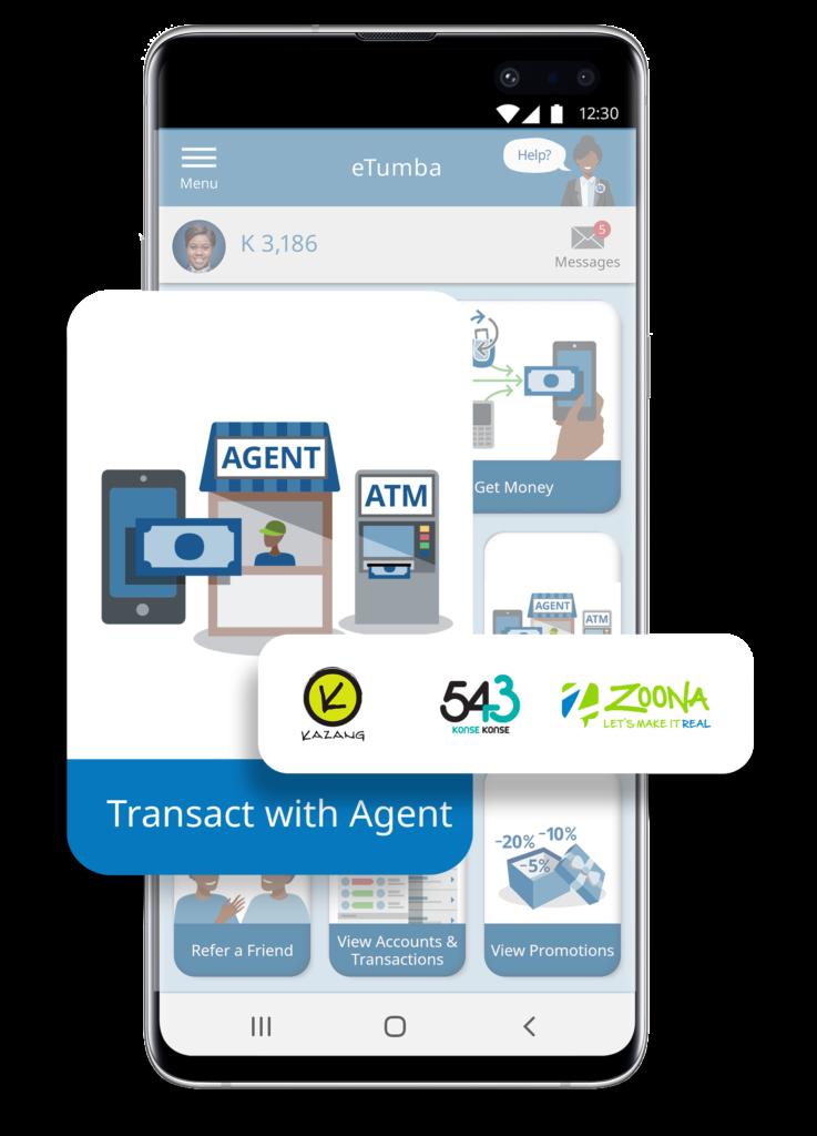 eTumba Agents, Kazang, 543 and Zoona